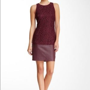 Trina Turk Amyas lace and leather dress